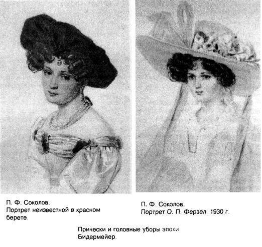 Причёски эпохи Бидермейер