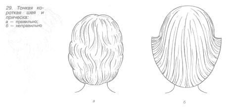 Причёски при тонкой и короткой шее