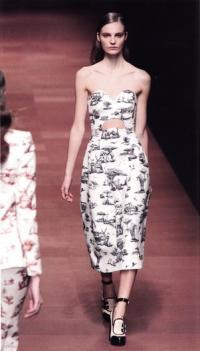 Принт с африканским сафари на платье Carven (весна-лето 2013)