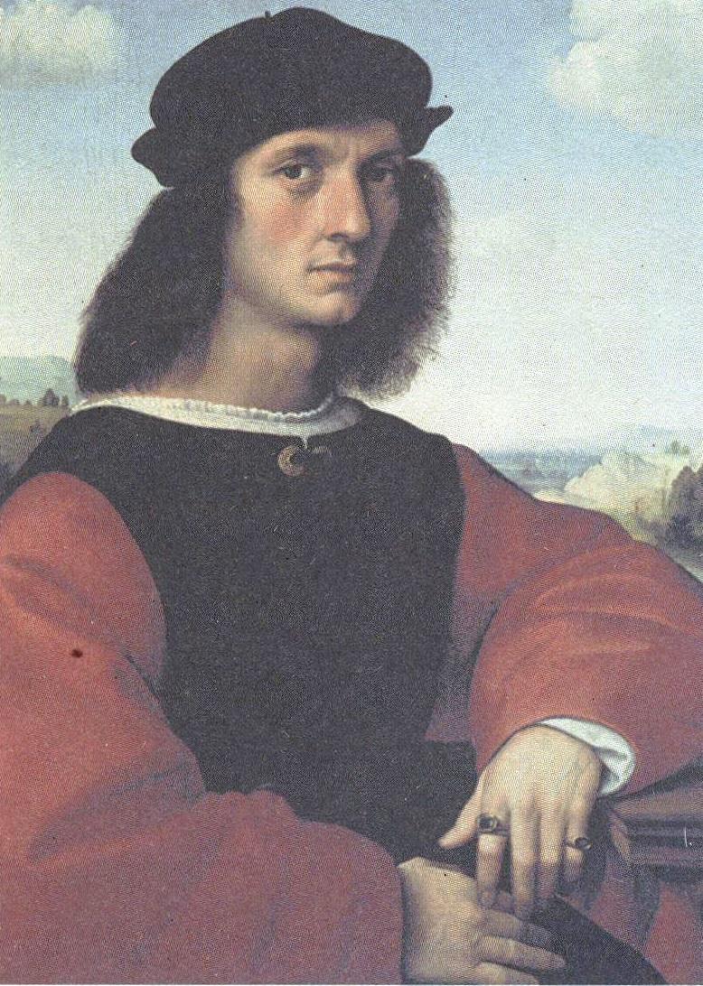 Рафаэль Санти. Портрет Аньоло Дони. 1505-1507