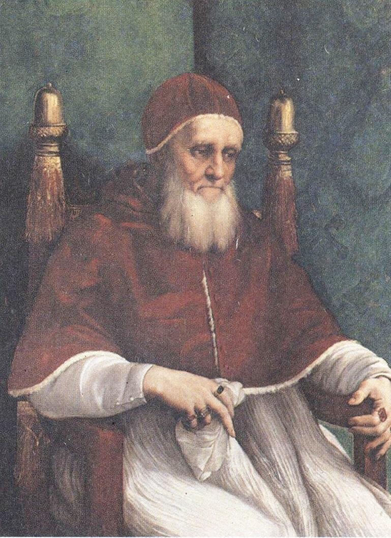 Рафаэль Санти. Портрет папы Юлия 11. 1512