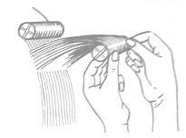 Расположение волос при накручивании