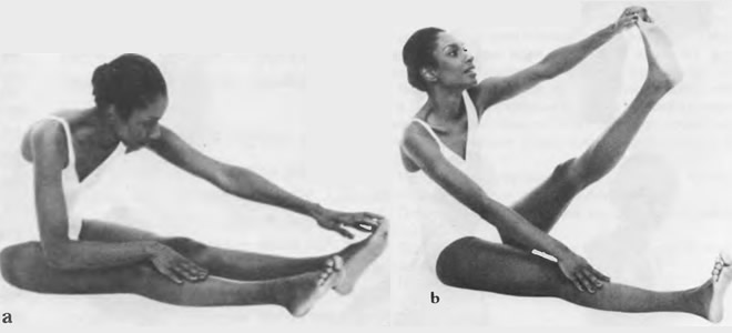 Растягивание икроножных мышц и свода ступни