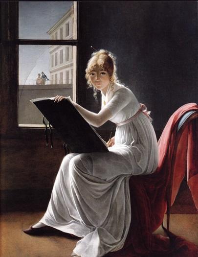 «Рисующая молодая женщина» (М.-Д. Вильер, 1801)