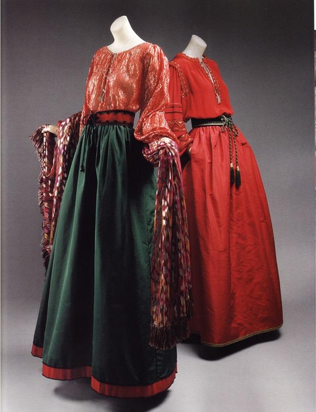 Русски наряд в стиле хиппи-люкс (Ив Сен-Лоран, 1976г.)