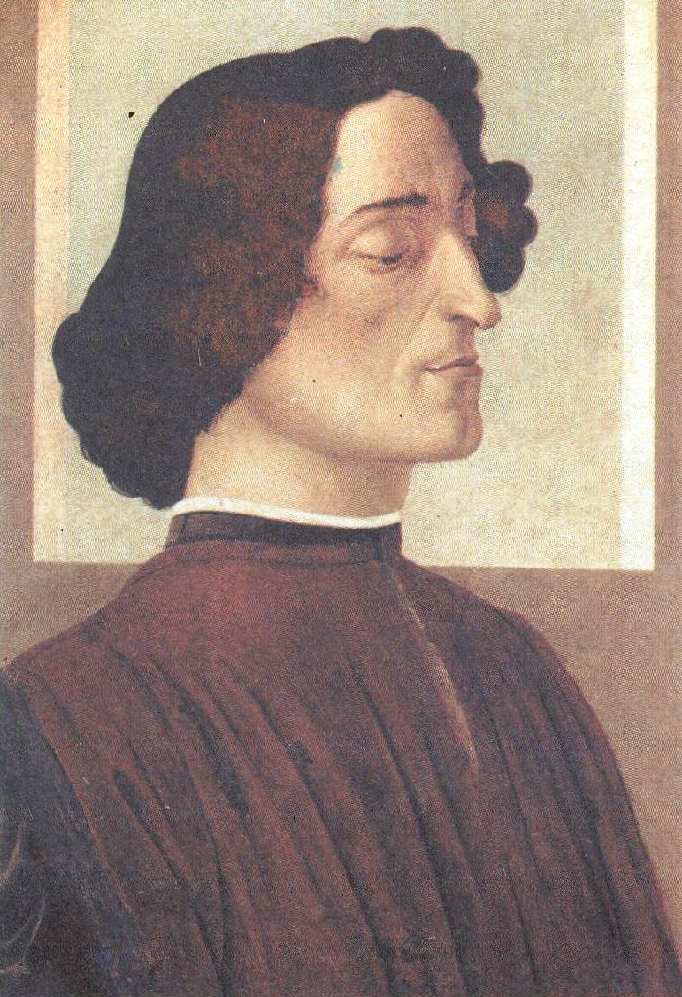 Сандро Ботичелли. Портрет Джулиано Медичи. Около 1478