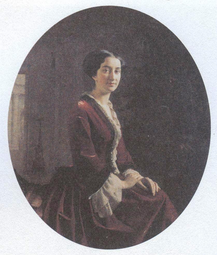 Сергей Зарянко. Потрет Е.Х.Абамелек-Лазаревой. 1854