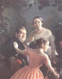 Сергей Зорянко. Портрет семьи Турчановых. 1848