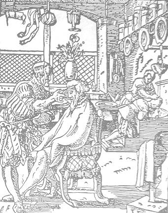 Средневековая парикмахерская