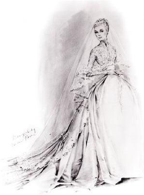 Свадебное платье будущей княгини Монако Грейс Келли