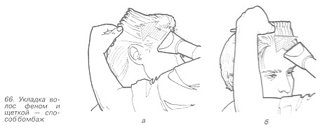 Укладка волос способом бомбаж