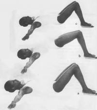 Упражнение для спины, бедер и ягодиц