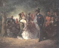 Валериан Князев. У загородного кафе. Париж. 1870-е