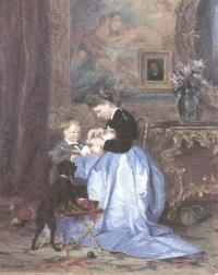 Валерий Якоби. Семья художника. 1867
