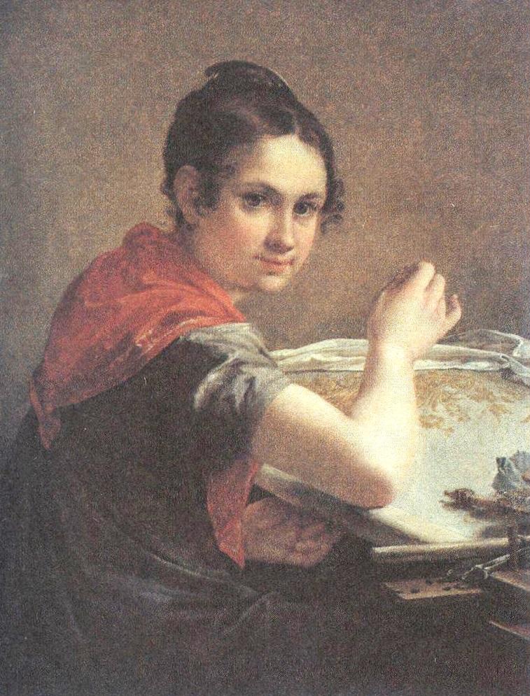 Василий Тропинин. Золотошвейка. 1826