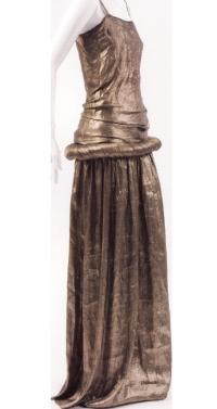 Мода 20-х годов: золотое платье