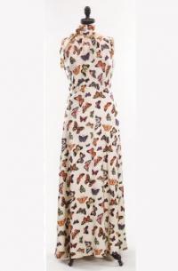Вечернее платье с принтом бабочек (Скьяпарелли, 1937)