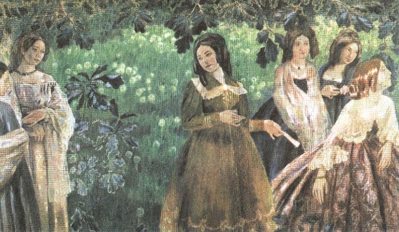 Виктор Борисов-Мусатов. Изумрудное ожерелье. 1903-1904