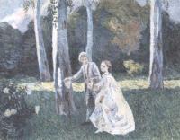 Виктор Борисов-Мусатов. Прогулка. 1901