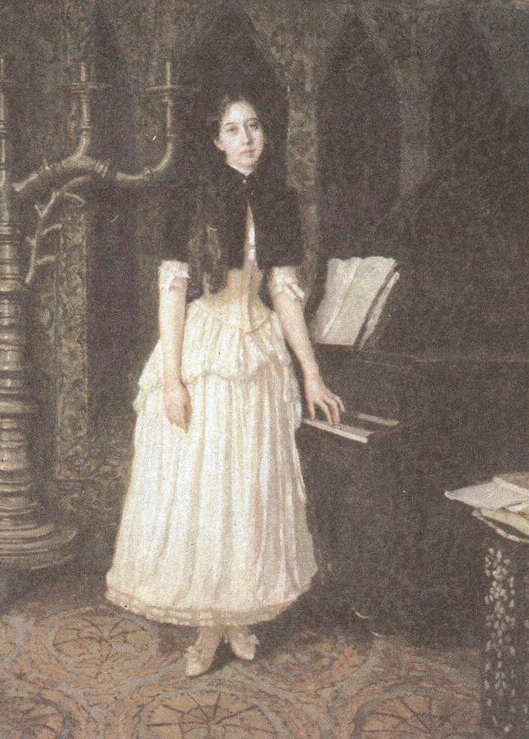 Виктор Васнецов. Портрет Елены Адриановны Праховой. 1894
