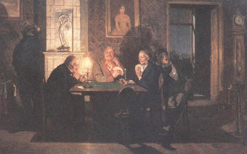 Виктор Васнецов. Преферанс. 1879