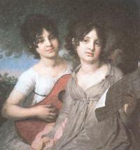 Владимир Боровиковский. Портрет княжон Анны и Варвары Гагариных. 1802