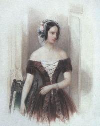 Владимир Гау. Портре великой княжны Александры Николаевны. Около 1840
