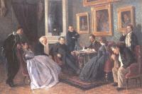 Владимир Маковский. Литературное чтение. 1866