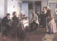 Владимир Маковский. Наём прислуги. 1891