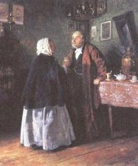 Владимир Маковский. Поздравление. 1848