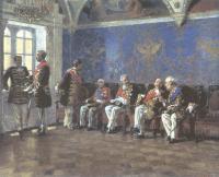 Владимир Маковский. В ожидании аудиенции. 1904