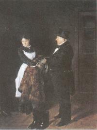 Владимир Маковский. В передней. 1884