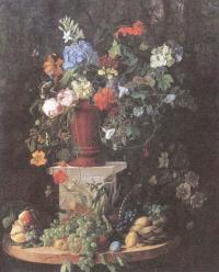 Владимир Садовников. Цветы и фрукты. 1855