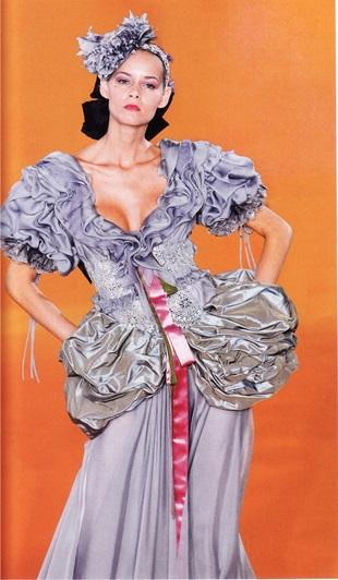 Юбки-полонез из шелковой тафты (модельер К. Лакруа)