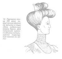 Закруглённая причёска конца XIX века