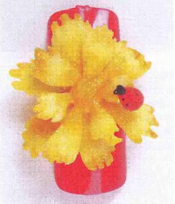 Желтый акрилатовый цветок