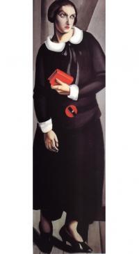 «Женщина в черном платье» (Тамара де Лемпицка, 1923)