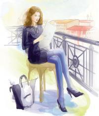 Женщина в деловом платье