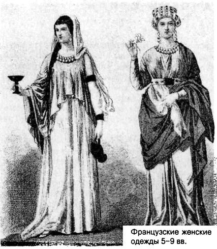 Женские одежды. Франция