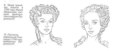 Женские прически эпохи Людовика XV