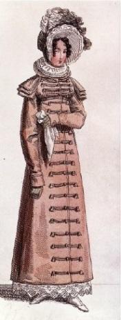 Женское пальто в военном стиле (1818г.)