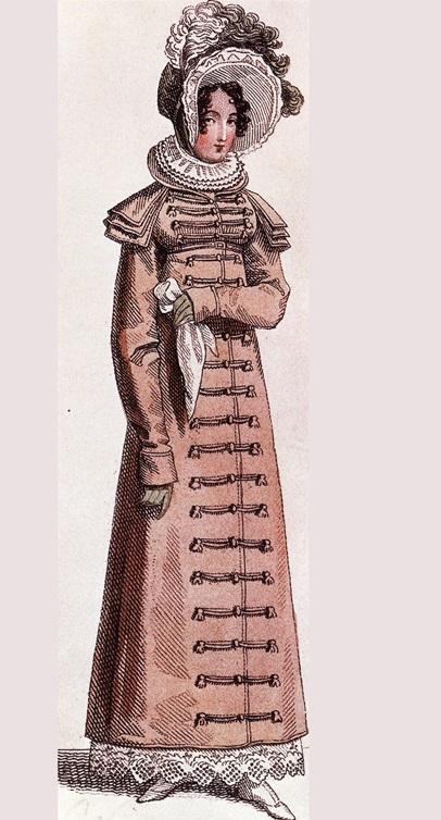 Женское пальто в военном стиле