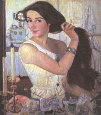Зинаида Серебрякова. За туалетом. Автопортрет. 1909