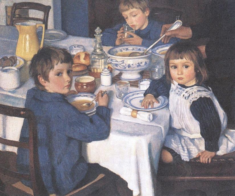 Зинаида Серебрякова. За завтраком. 1914