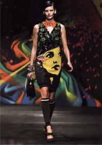 Знаковые женские образы в платье Миуччи Прада (весна-лето 2014)