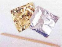 Золотая и серебряная тонкая фольга
